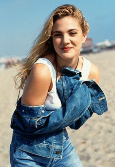 Drew Barrymore 90s fashion