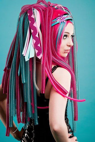Cybergoth hair and hairpieces