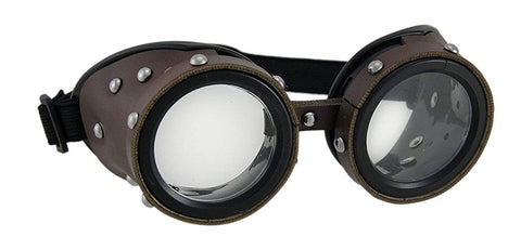Leather studded googles