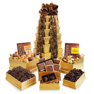 Chocolate Tower Gift Basket