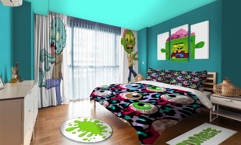 Zombie themed bedrooms for little monsters