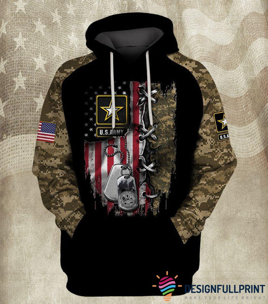 Army US Unisex Size Hoodie