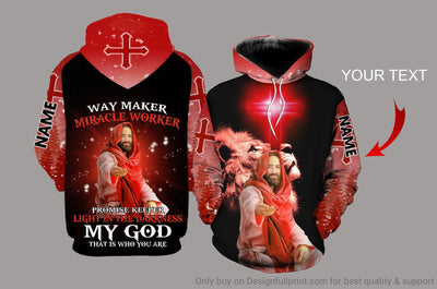 Personalized Way Maker My God That Is Who You Are Unisex Hoodie