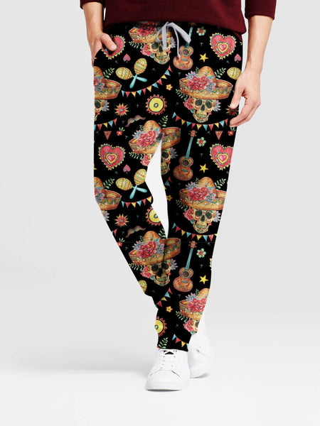 Cinco de Mayo Mexican Skull 3D Leggings/Sweat Pants 005