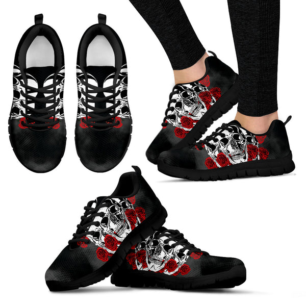 Smokey Rose Skull Sneakers