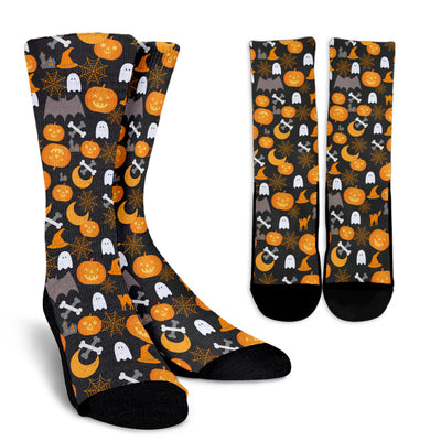 Trick or Treat CREW SOCKS - Halloween Accessories, Halloween Gifts