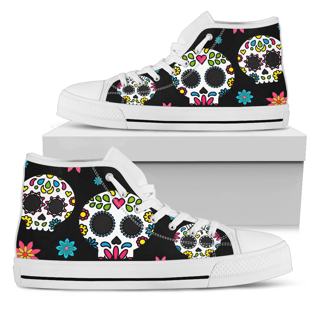Women's Sugar Skull Canvas Shoes 001 (High top & Low top)