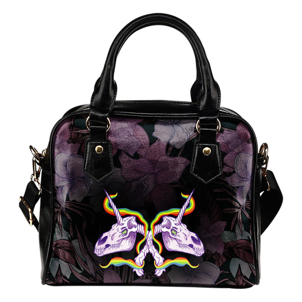 Unicorn Skull Shoulder Bag 001 - designfullprint