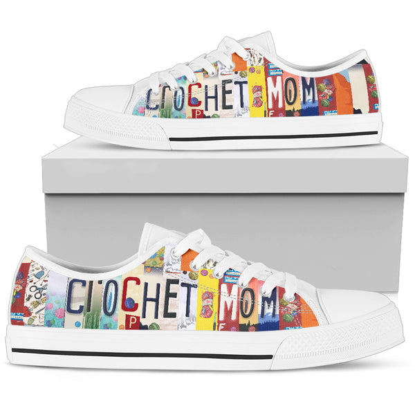 Crochet Mom Canvas Low Top Shoes