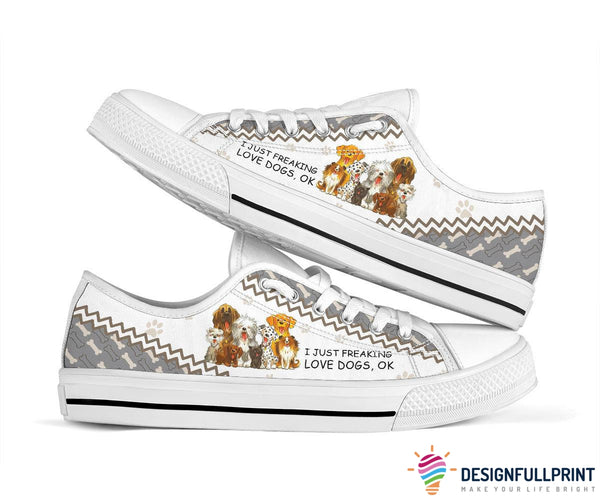 I Just Freaking Love Dogs Low Top Shoes