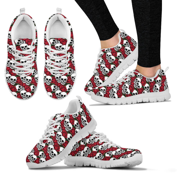 Skulls and flowers sneakers