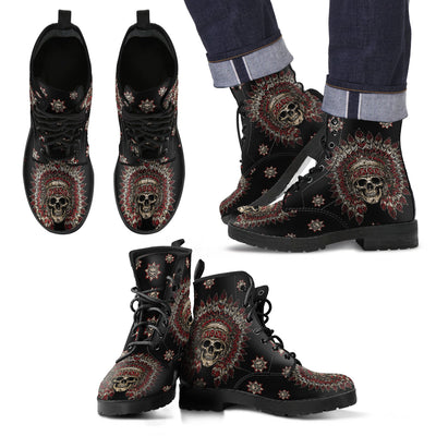 New Lace Up Comfortable Native Boots - designfullprint