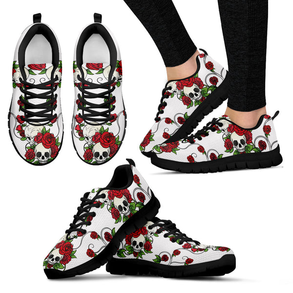 Hand Draw Skull & Roses Sneakers