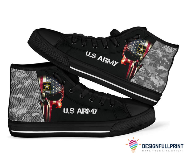 Men US Armed Forces High Top Shoes