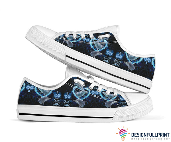 Dolphin Lover Low Top Shoes