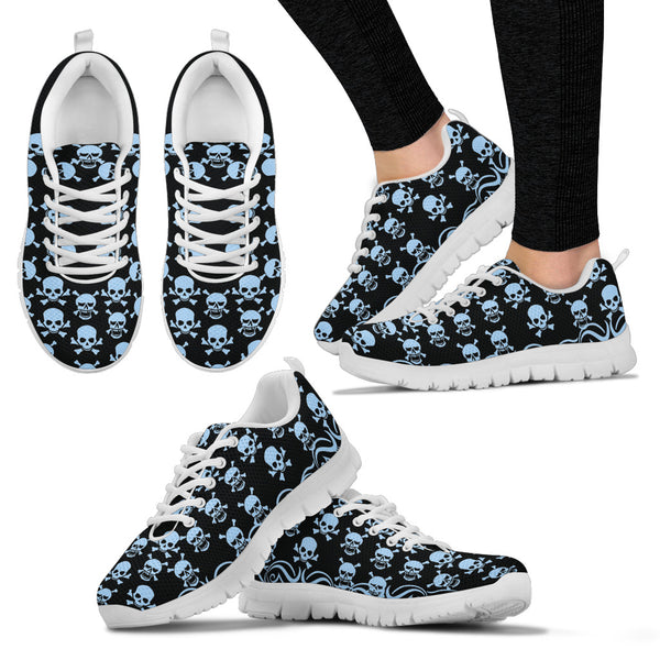Printed Skull Sneakers - White
