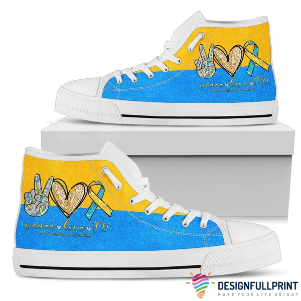 Peace Hope Down Syndrome Awareness Shoes
