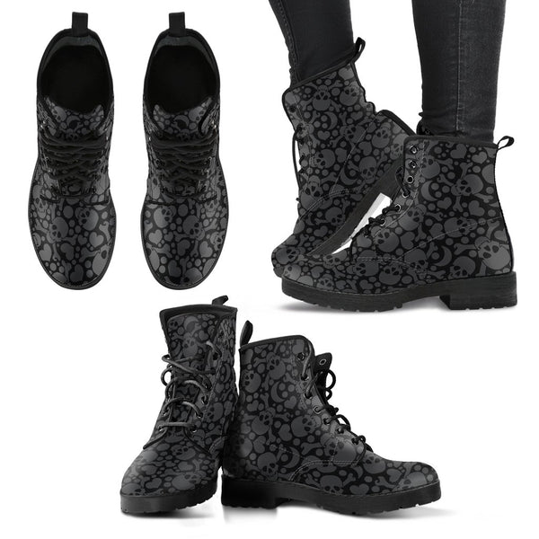 Hearted Skull Women's Boots