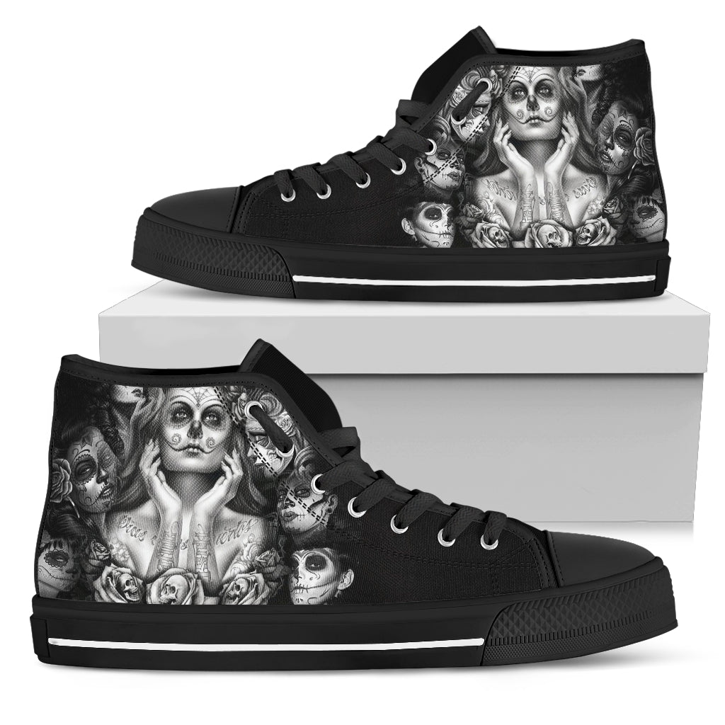 Sugar Skull High Top Shoes
