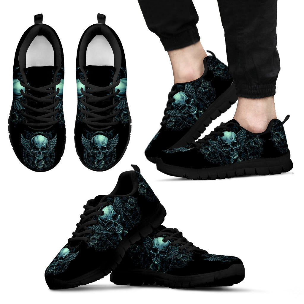 Black Skull Lightweight Sneakers