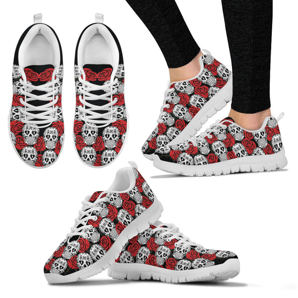 Skull Illustrator Sneakers - White