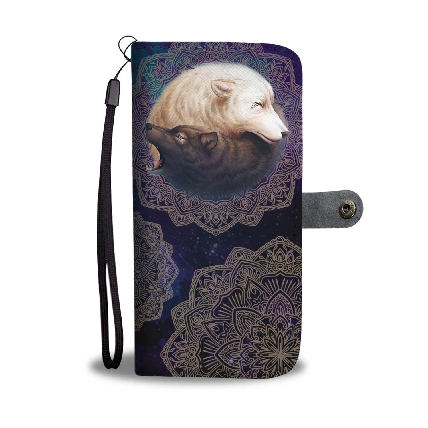 Wolf Bother Phone Wallet Case