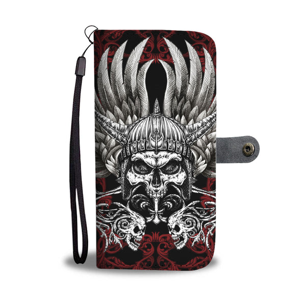 Skull Art Phone Wallet Case - designfullprint
