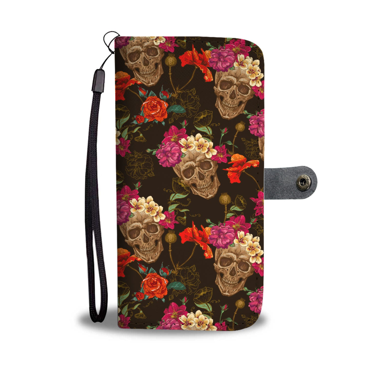 Skull Art Phone Wallet Case 04