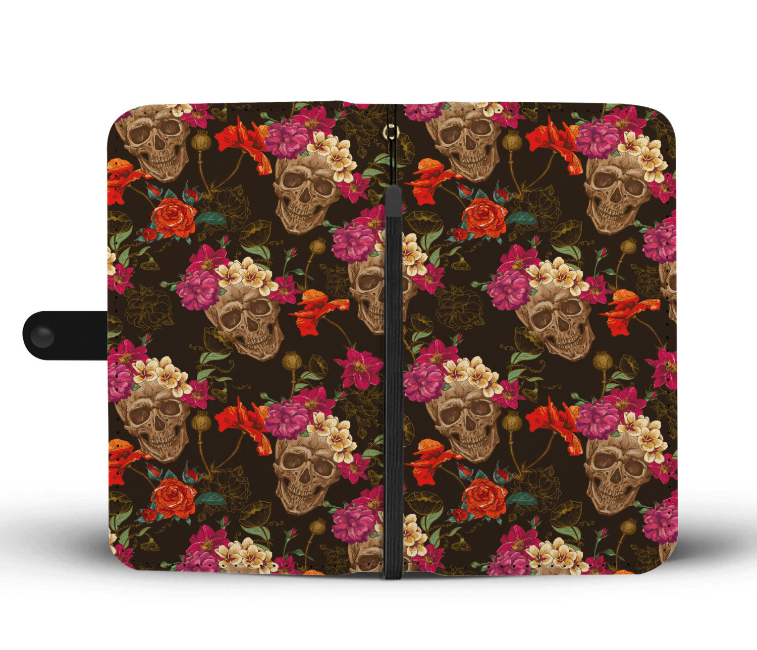 Skull Art Phone Wallet Case 04 - designfullprint