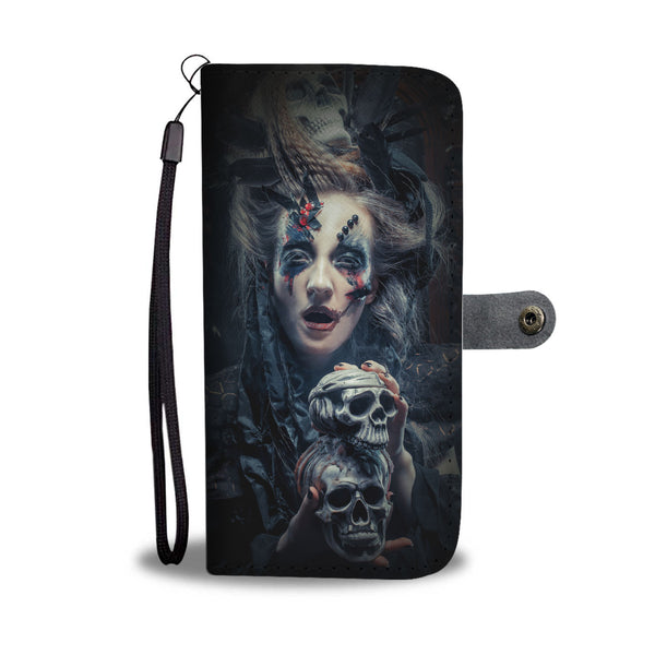Skull Art Phone Wallet Case 05 - designfullprint