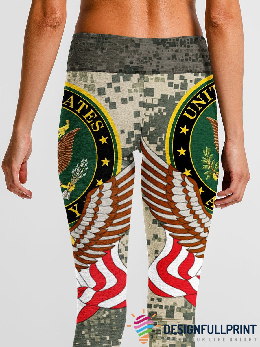 3D Armed Forces US Army Leggings 002 - designfullprint
