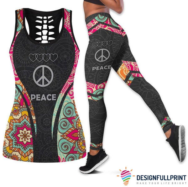 Hippie Mandala Tank Top And Legging Set