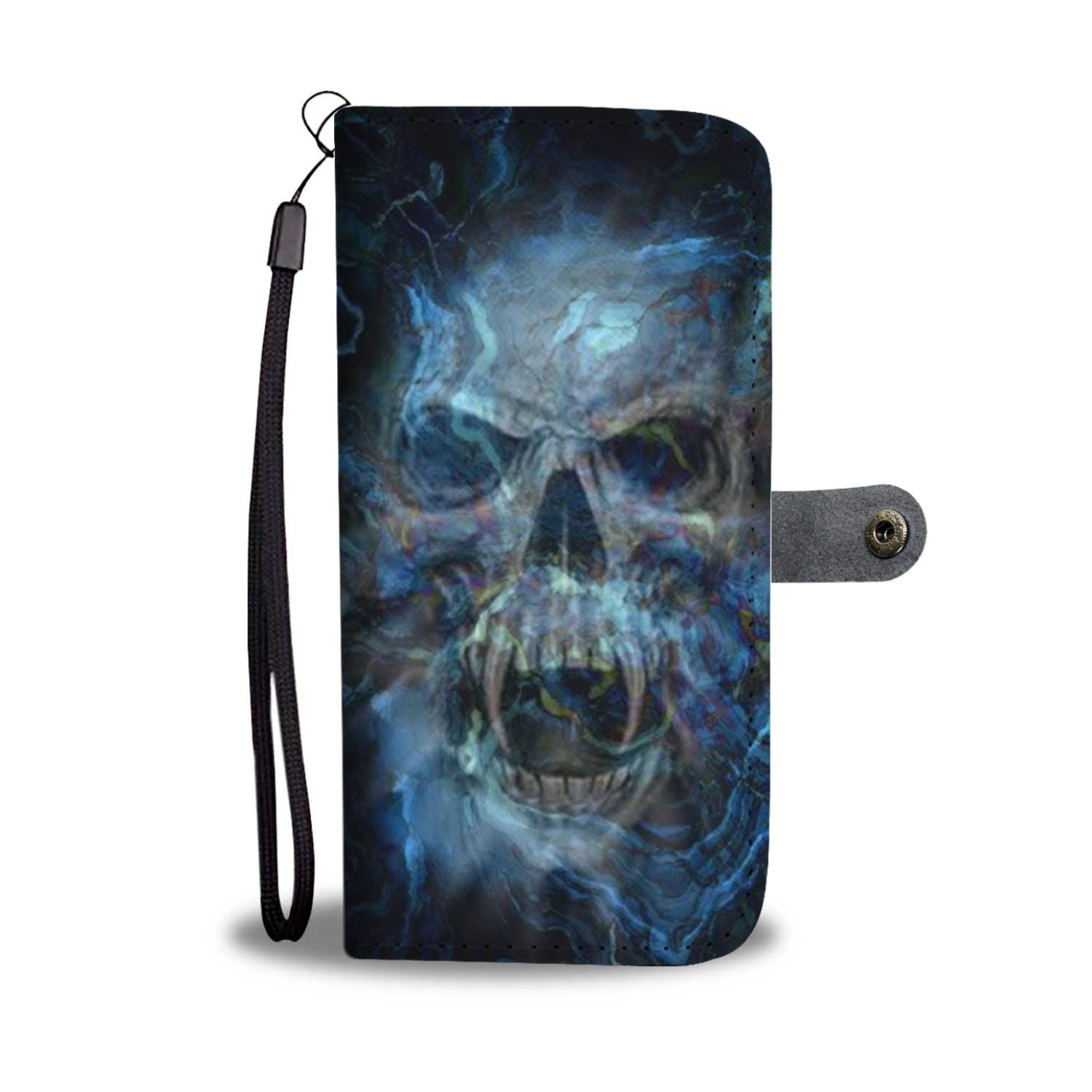 Skull Art Phone Wallet Case 006