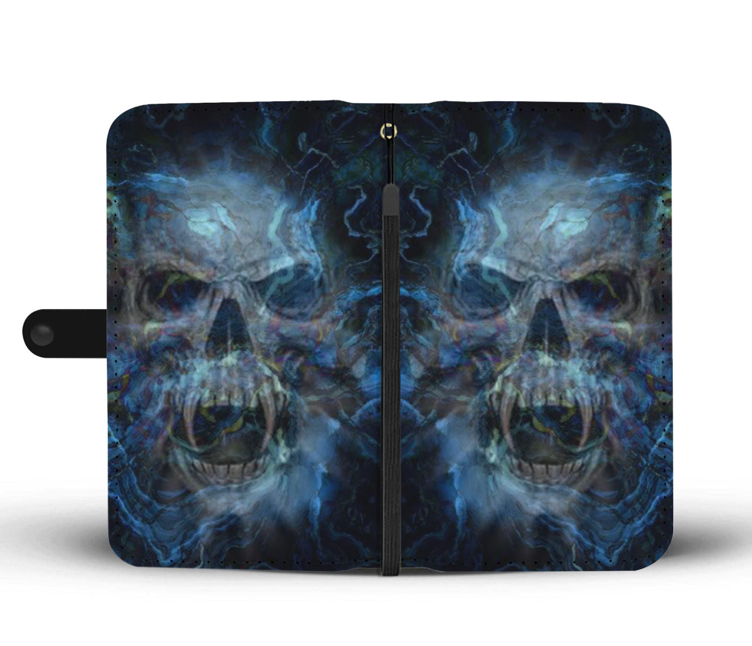 Skull Art Phone Wallet Case 006 - designfullprint