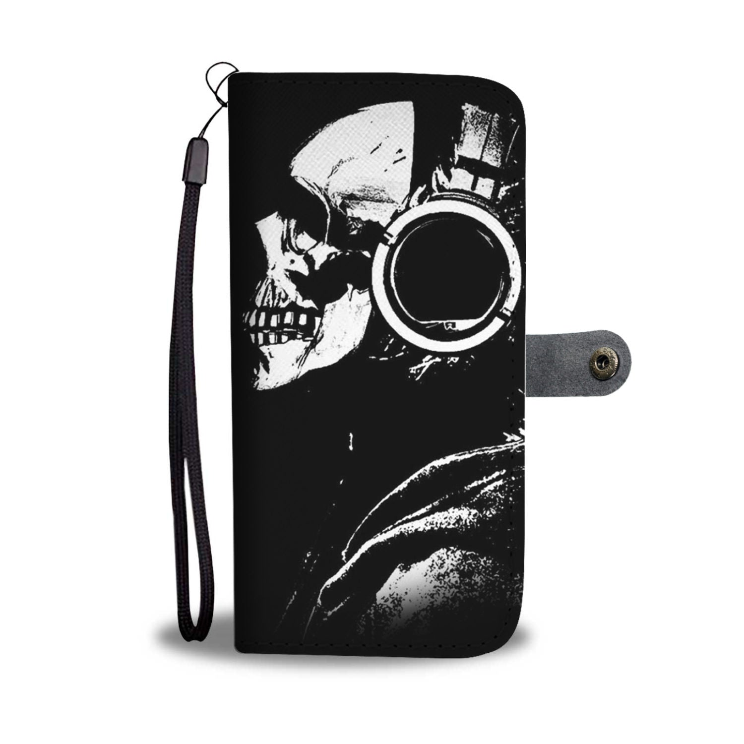 Skull Art Phone Wallet Case 007