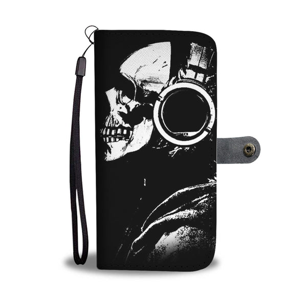 Skull Art Phone Wallet Case 007 - designfullprint