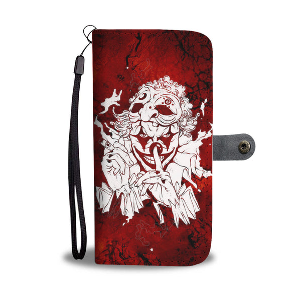 Skull Art Phone Wallet Case 008 - designfullprint