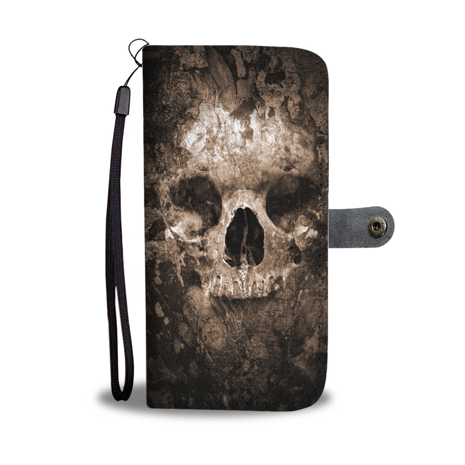 Skull Art Phone Wallet Case 009