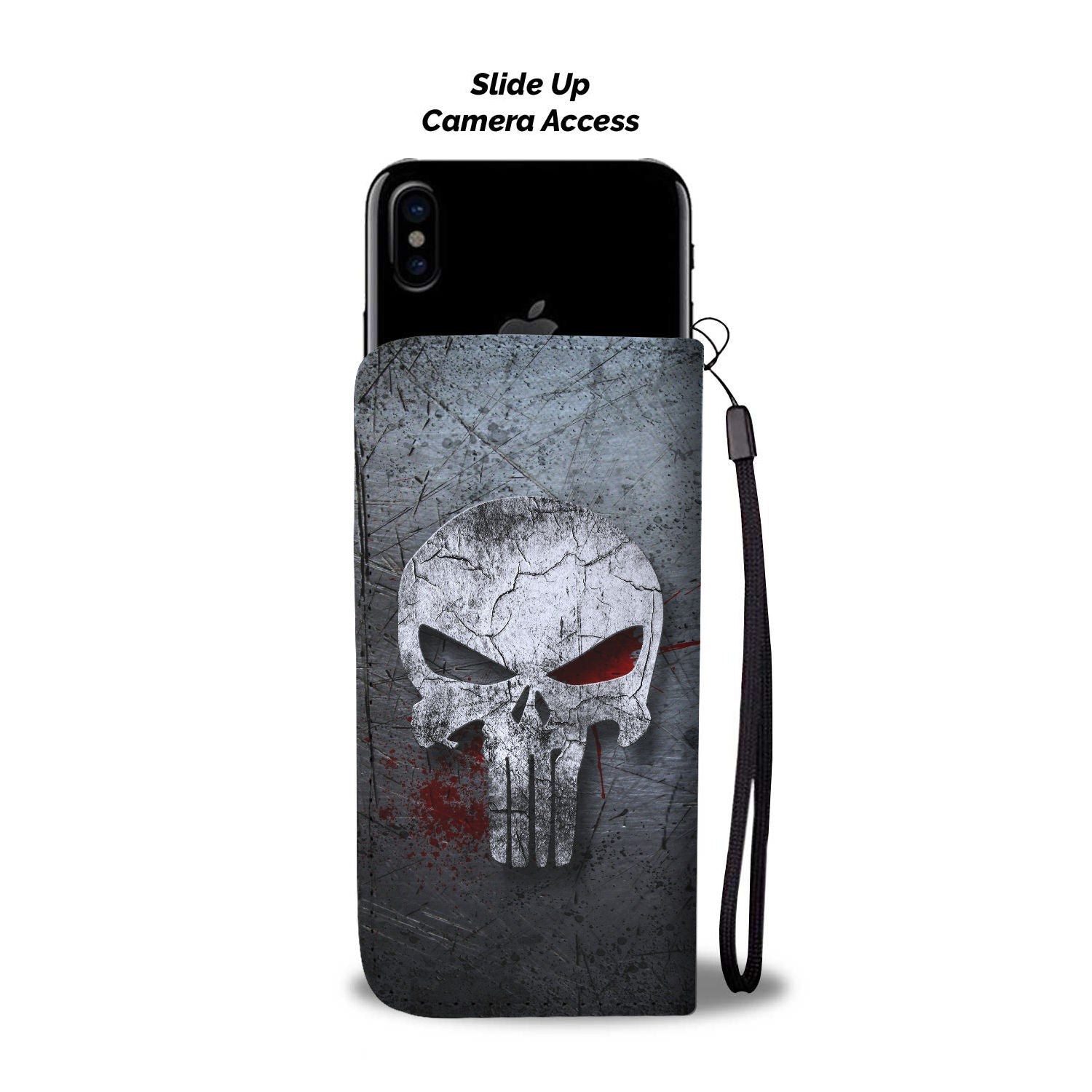 Skull Art Phone Wallet Case 010 - designfullprint