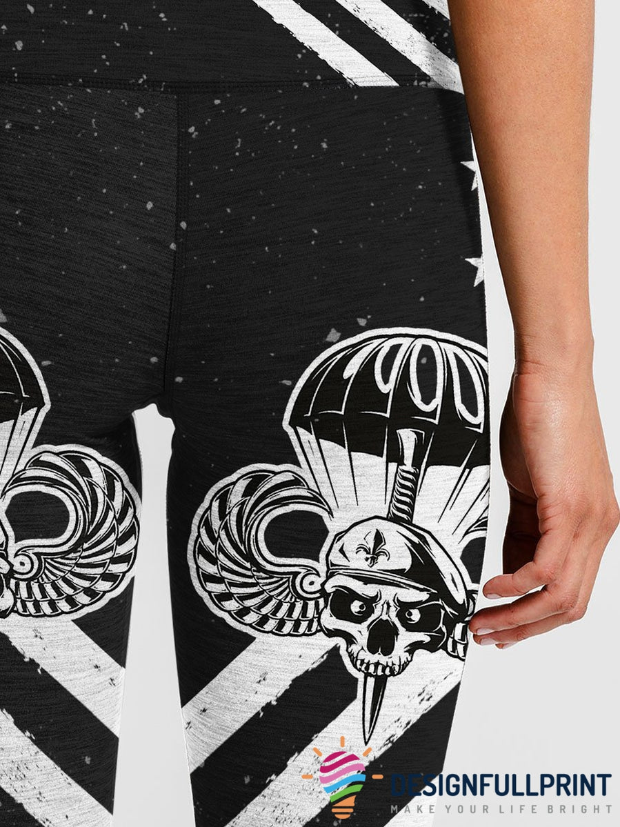 3D Armed Forces Paratroopers Air Force Leggings 004 - designfullprint