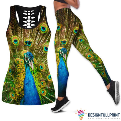 Peacock Tank Top And Leggings Set