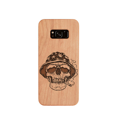 [US Only] Wood Phone Case for Universal Models - Skull 002