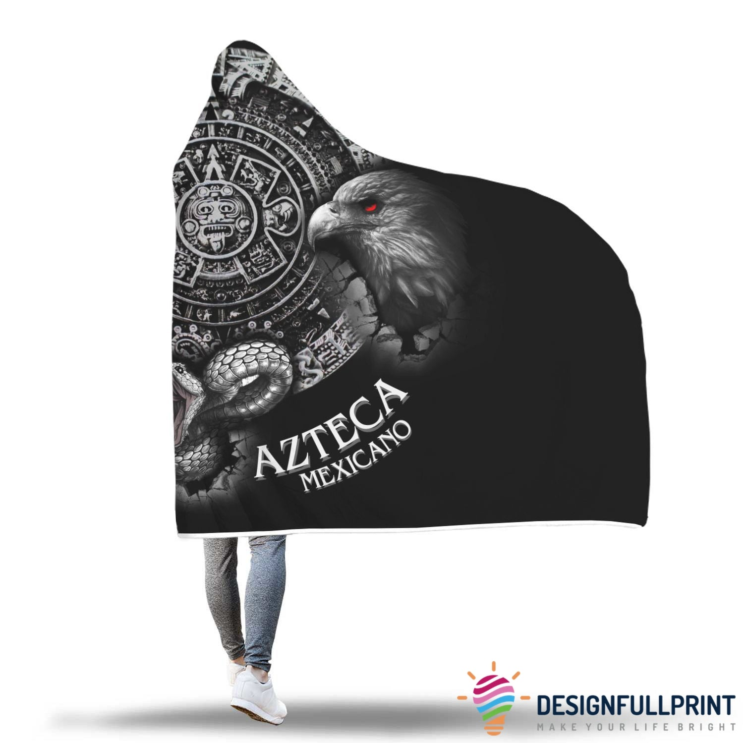 Special Sale: Mexico Lovers Hooded Blanket - designfullprint
