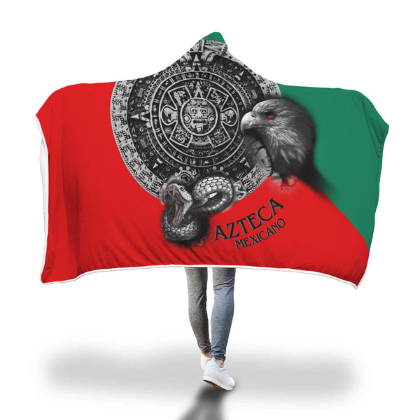 Special Sale: Mexico Flag Hooded Blanket - designfullprint