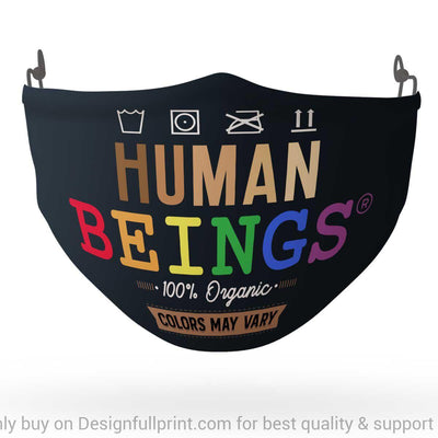 LGBT Human Beings 100 Organic Colors May Vary Mask 3-pack