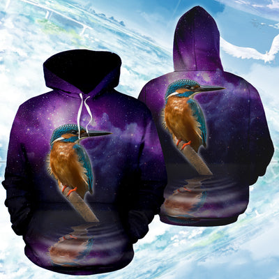 3D Kingfisher Bird Printed Hoodie 005 - designfullprint