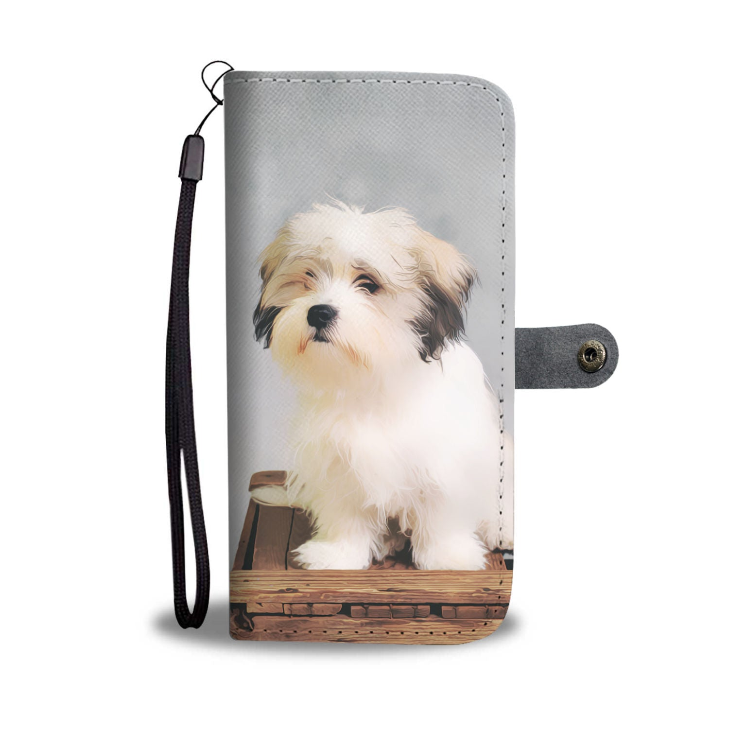 Personalized Golden Maltese Phone Wallet