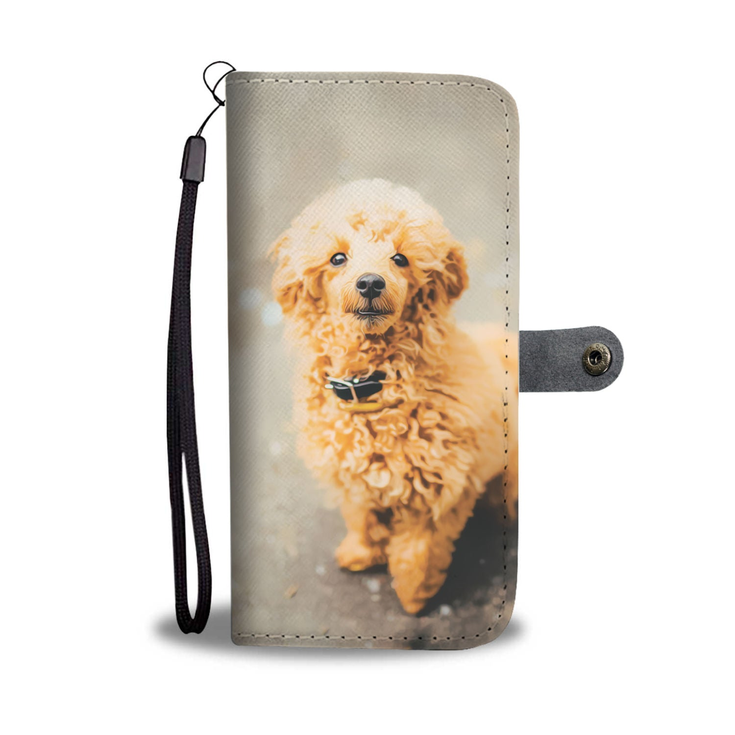 Personalized Poodle Phone Wallet