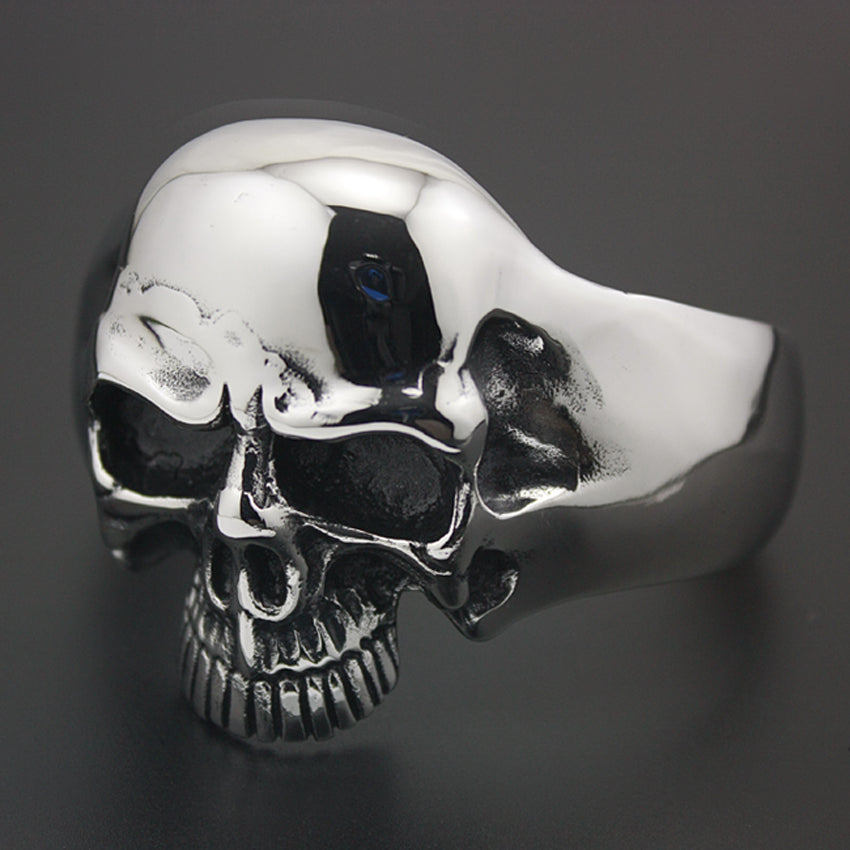 High Quality Stainless Steel Heavy Cuff Skull Bracelet