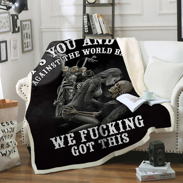 Limited Edition Skull Lovers Sofa Throw Blanket